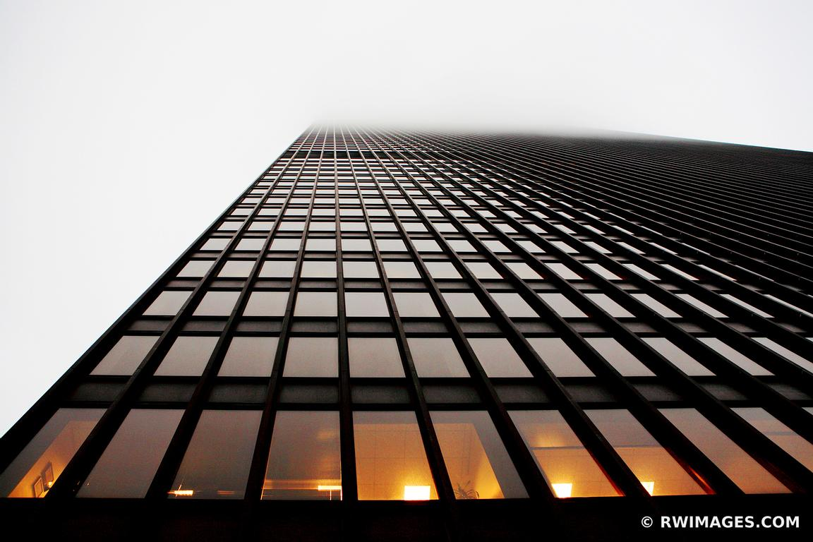 Photo print of ibm building in fog chicago modern for Buy fine art photography