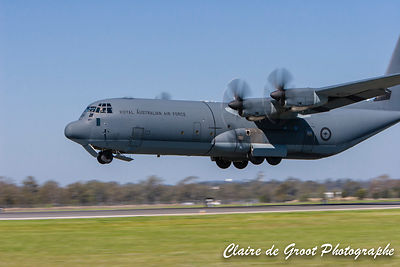 C130 Hercules coming into land