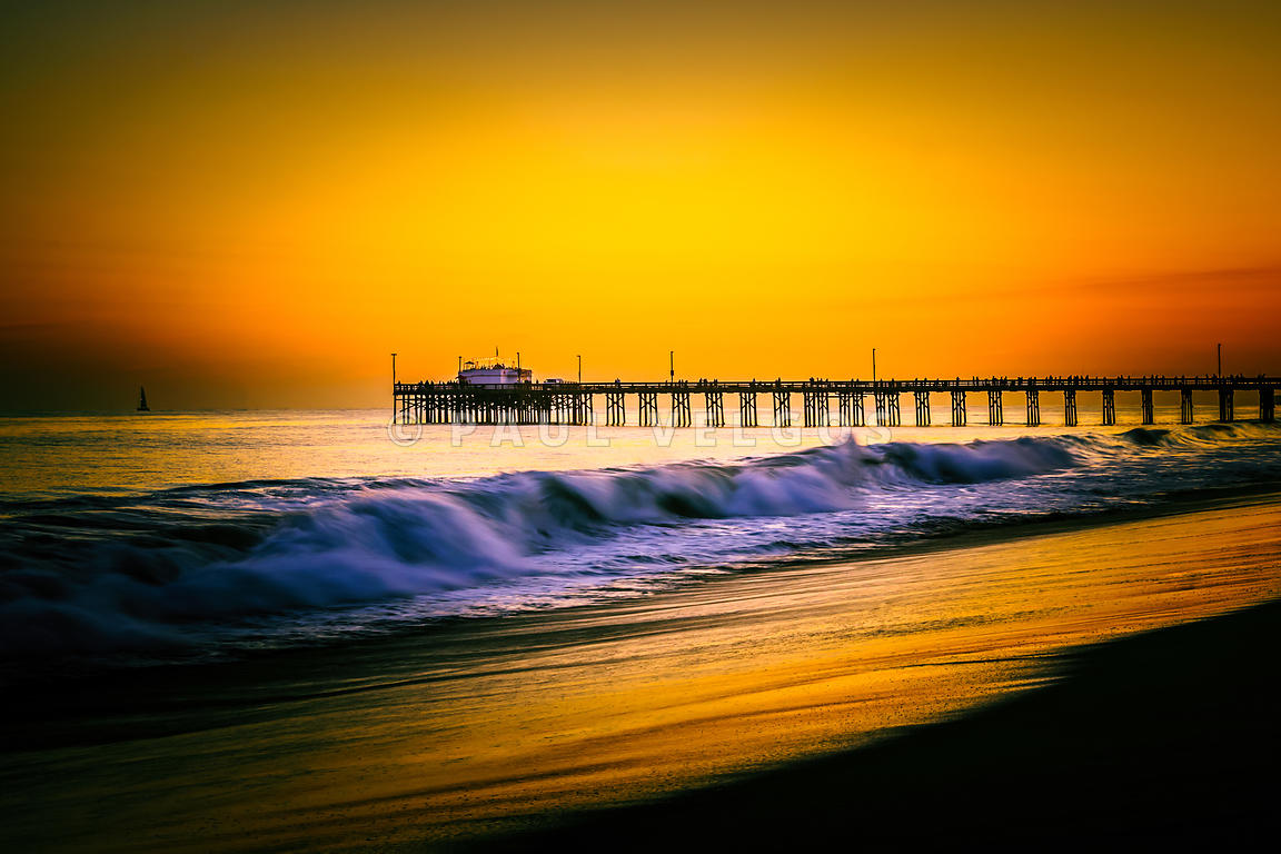 Image: Balboa Pier Picture at Sunset in Orange County California ...