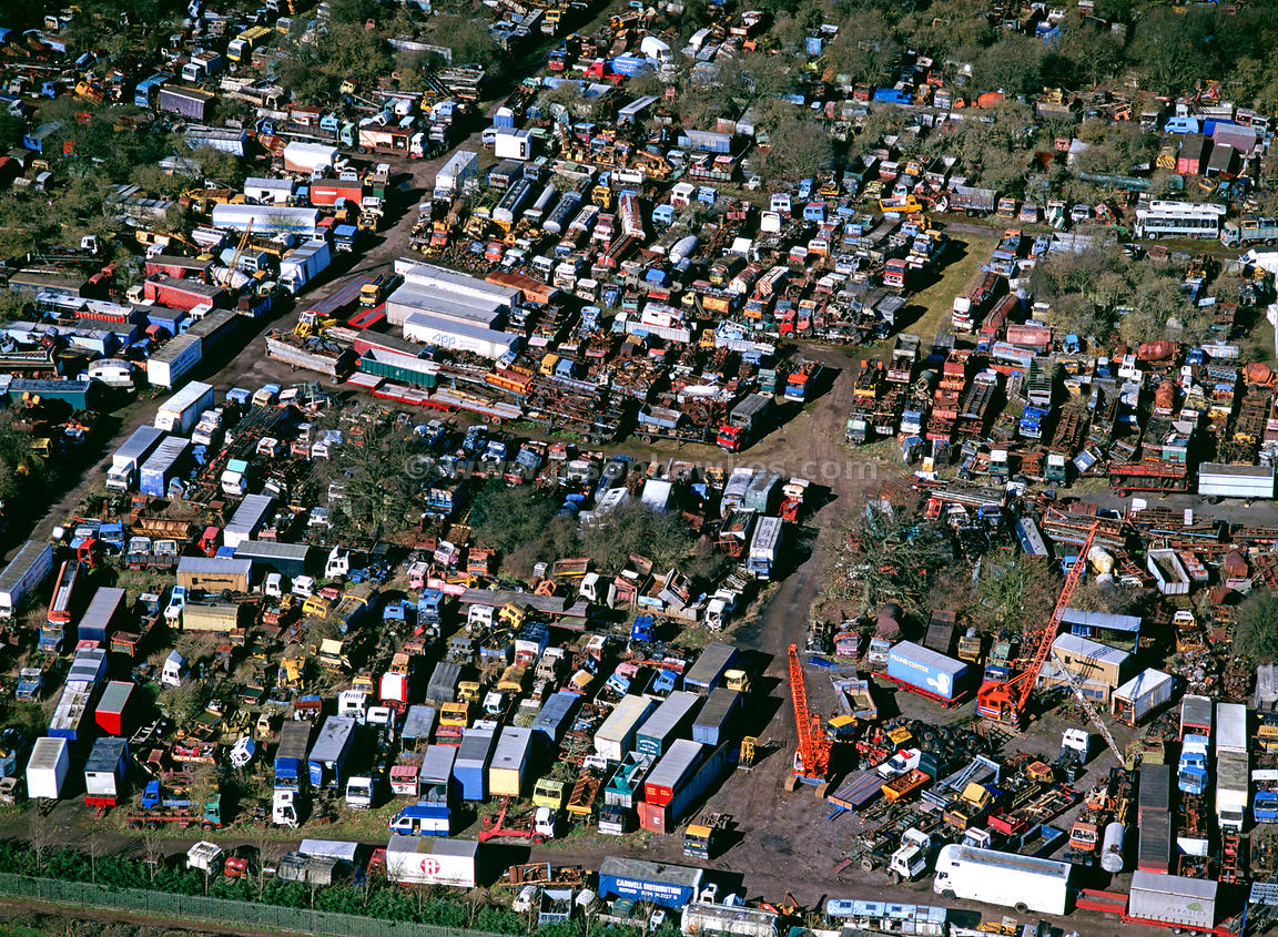 Aerial View Scrap Yard Buckinghamshire Jason Hawkes