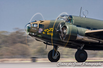 Lockheed Hudson taking off