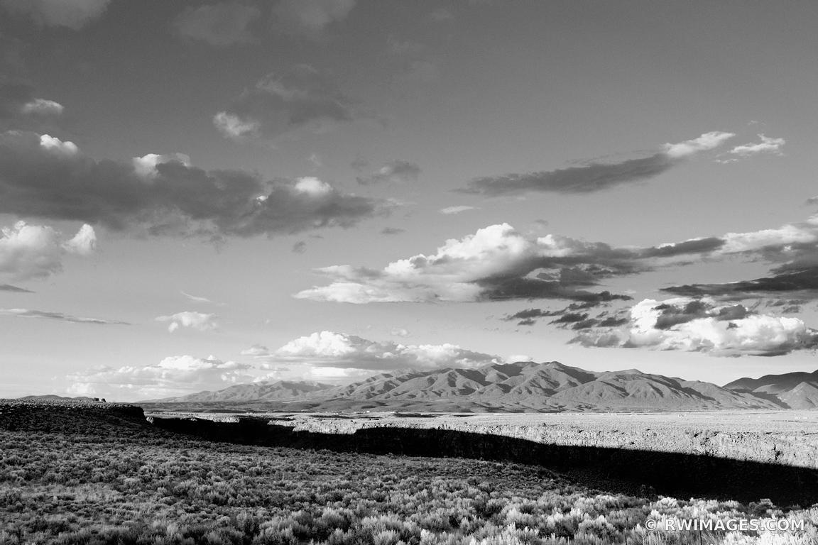 Photo print of rio grande gorge near taos new mexico black for Large photographic prints for sale