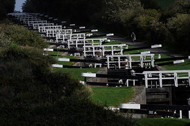 Caen Hill locks.