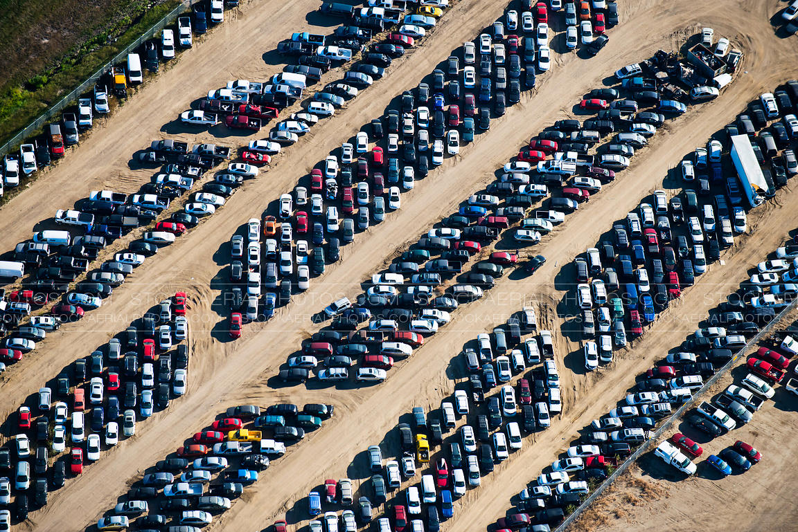 Aerial Photo | Junk Car Lot