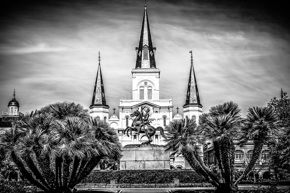 St Louis History In Black And White: Image: St. Louis Cathedral In New Orleans Black And White