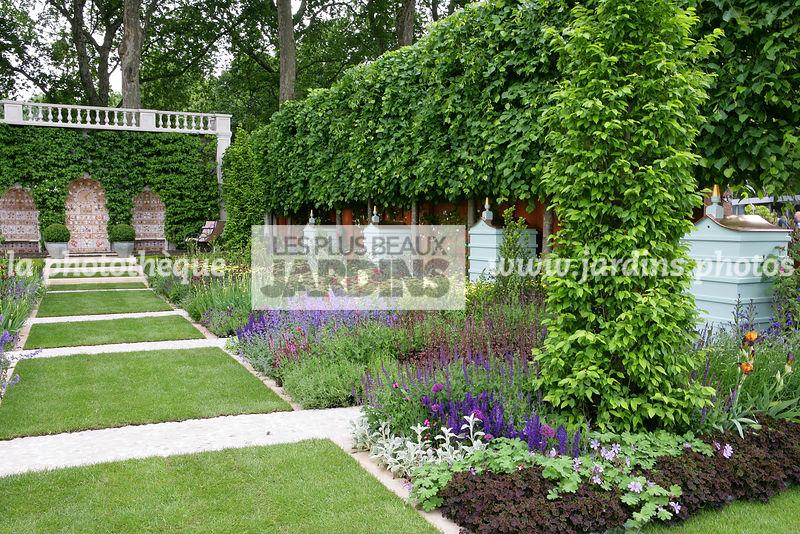 La phototh que les plus beaux jardins jardin structur haie de tilia platyphyllos tilleul for Gartenbepflanzung modern