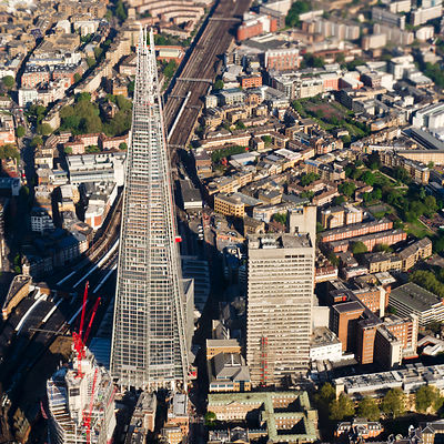 Shard London aerial view