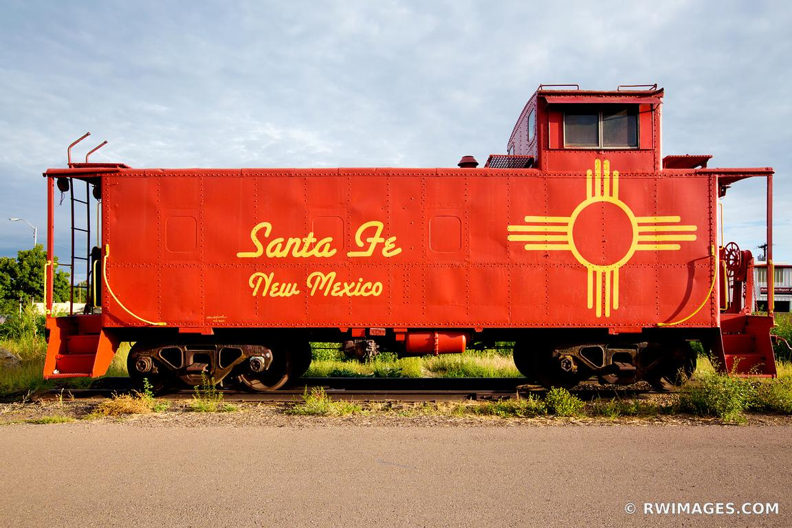 framed photo print of old red caboose train car santa fe new mexico print picture image fine art. Black Bedroom Furniture Sets. Home Design Ideas