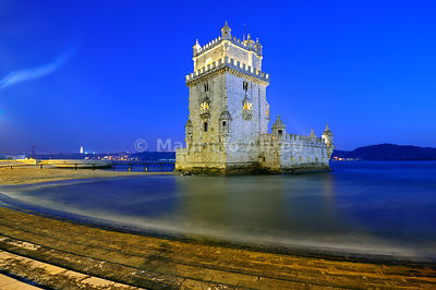 Torre de Belm (Belm Tower), a UNESCO World Heritage Site built in the 16th century, Lisbon, Portugal