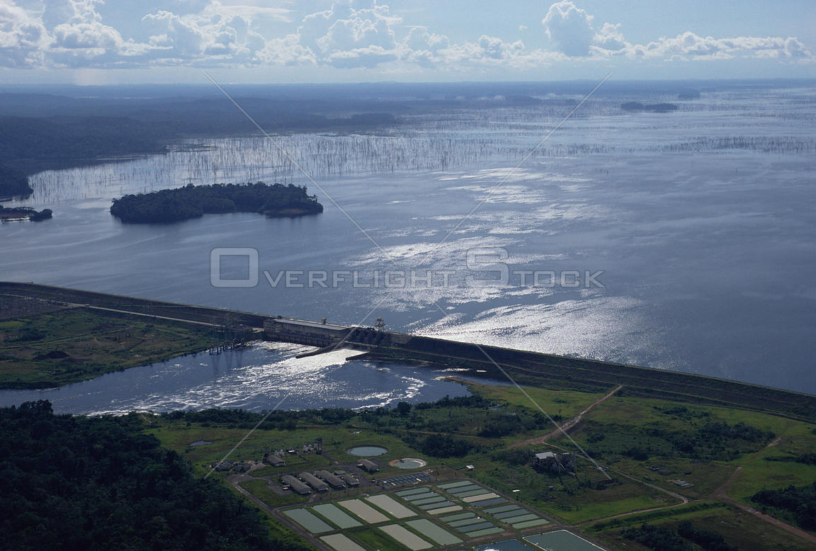 15354924119 Aerial view of Balbina Hydro electric dam