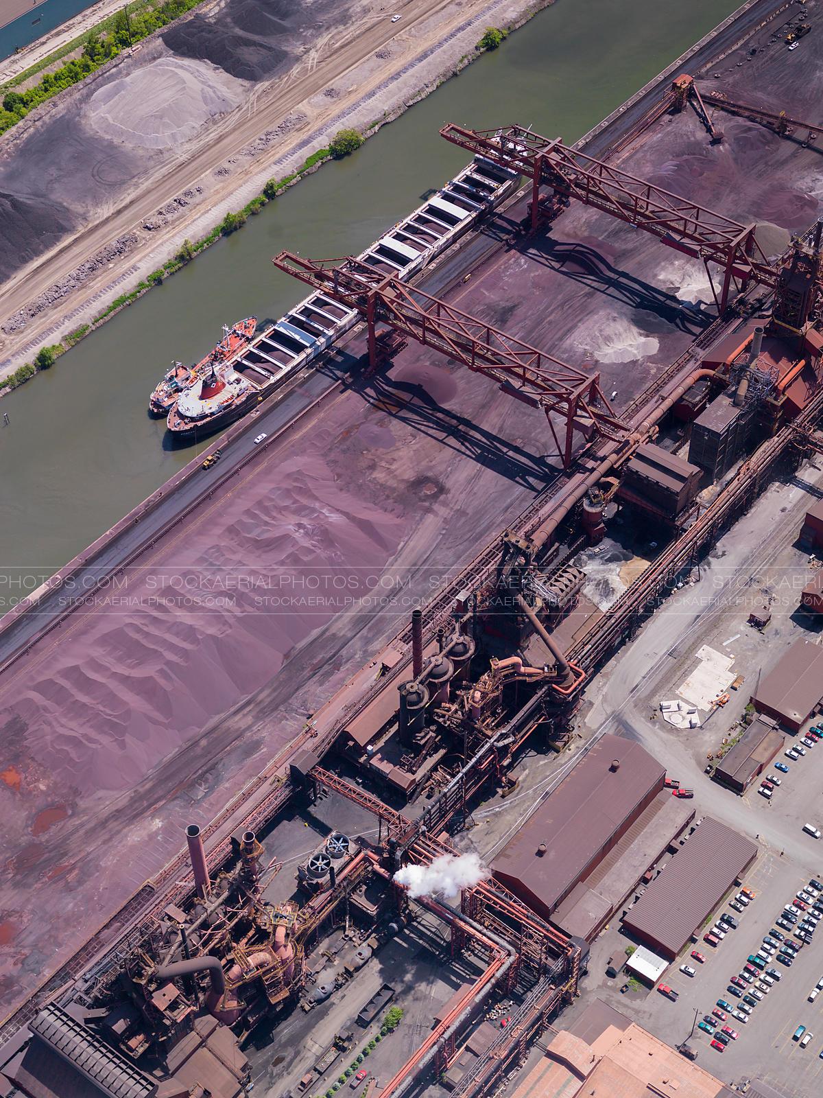 Aerial Photo Hamilton Steel Mill