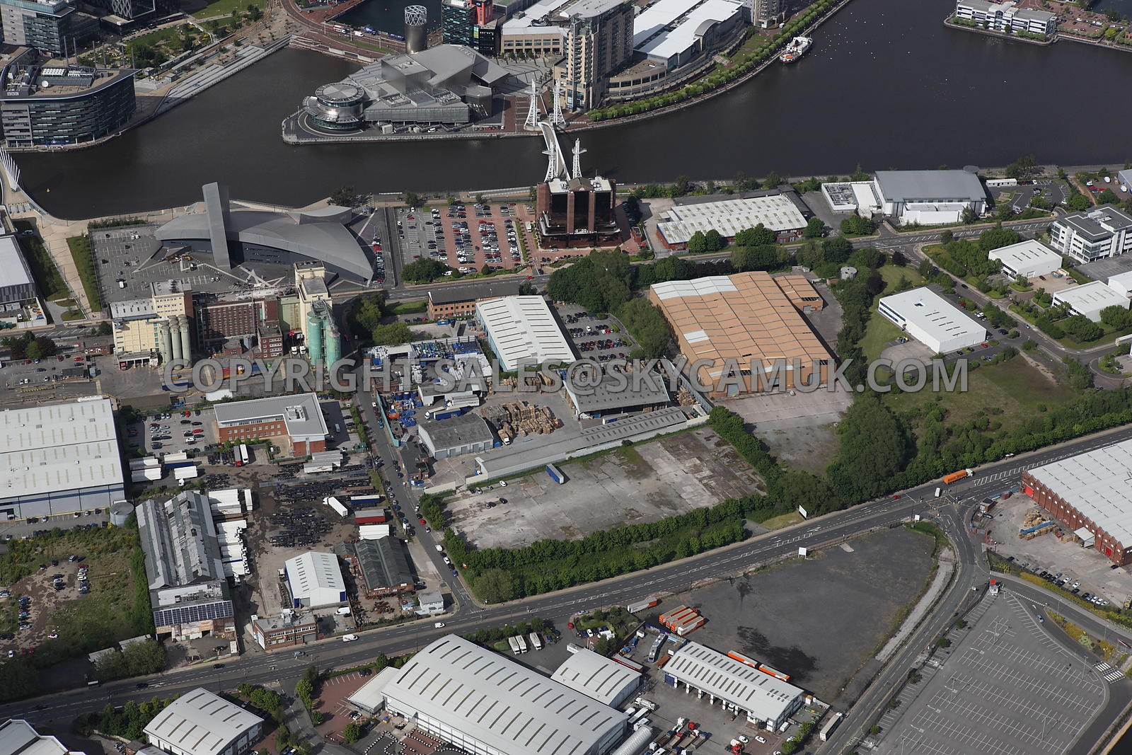 Aerial Photography Of Manchester Aerial Photograph Looking