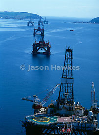 Oil Rigs, Cromarty Firth, Scotland