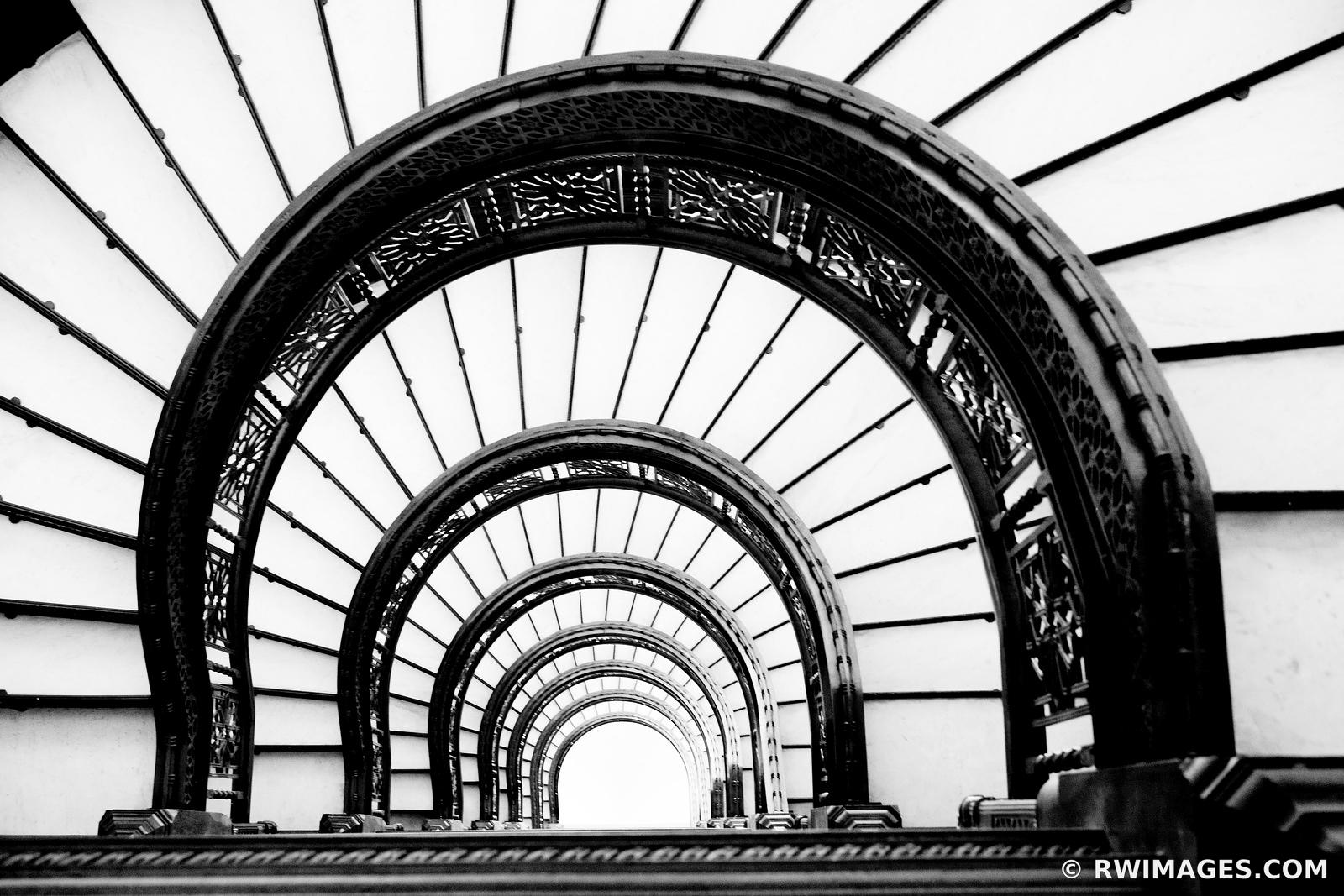 Chicago Architecture Black And White ❏ framed photo canvas metal acrylic print | rookery building