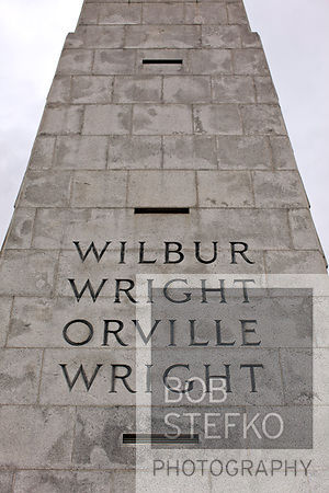 Wright Brothers Monument in Wright Brothers National Memorial, Kill Devil Hills, North Carolina, USA
