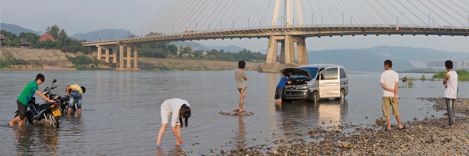 Washing cars in Mekong