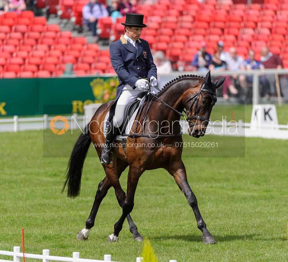 Image: Sam Griffiths and HAPPY TIMES - Dressage ... Badminton Horse Trials