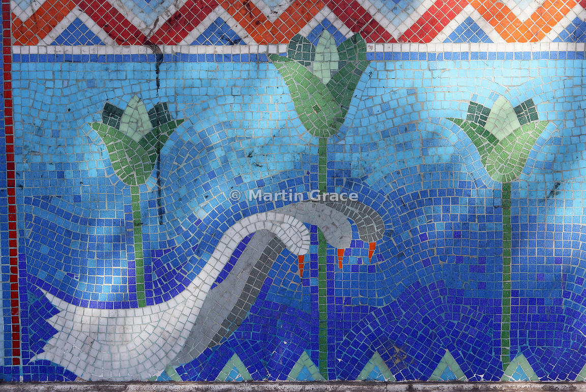 Martin Grace Photography Mosaic Tiled Fresco Of Three Geese And