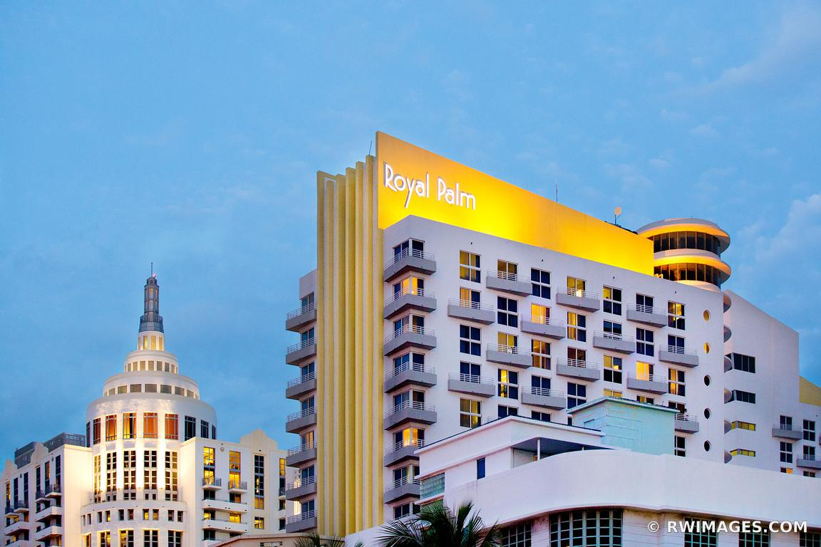 photo print of royal palm art deco architecture miami beach florida