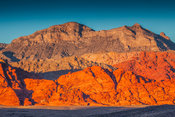 View of red rock formations at sunset, Red Rock Canyon National Conservation Area, Nevada, USA