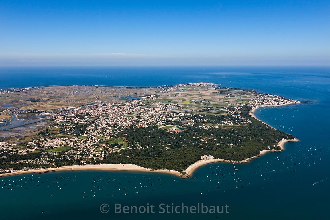 Benoit Stichelbaut Photographe France Vendee 85 Ile De Noirmoutier Plage Des Sableaux Et Dames Bois La Chaise Vue Aerienne