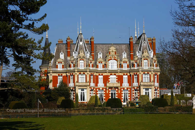 Chateau impney is a 19th century house built in the style of an elaborate french chateau