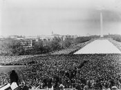 Marian Anderson sings at Lincoln Memorial in 1939
