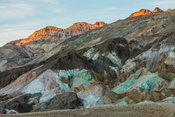 Artists Palette area with evening light, Death Valley National Park, California, USA