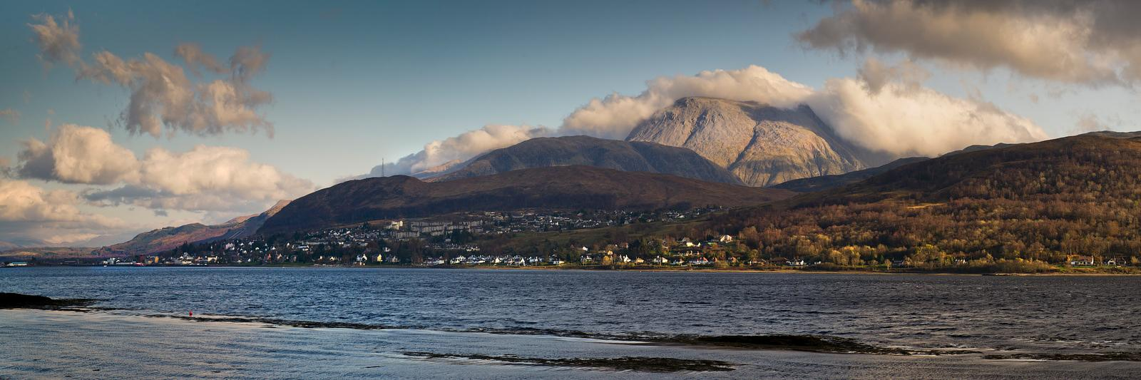 Ben Nevis and Loch Linnhe panorama