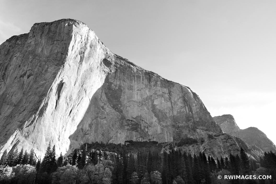 photo print of el capitan yosemite national park black and white
