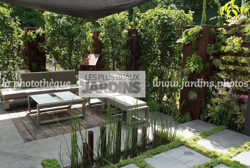 la photothèque | LES PLUS BEAUX JARDINS | Terrasse contemporaine ...