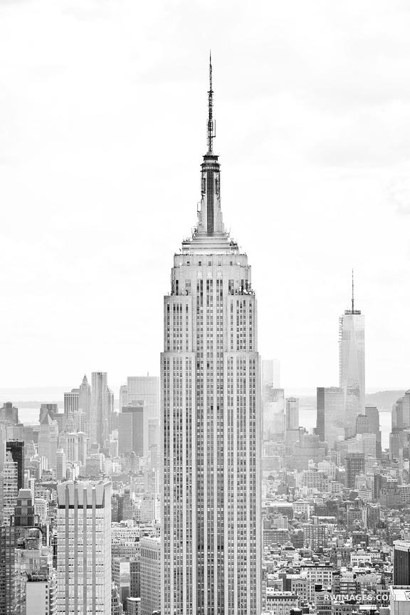 Framed Photo Print Of EMPIRE STATE BUILDING MANHATTAN NEW