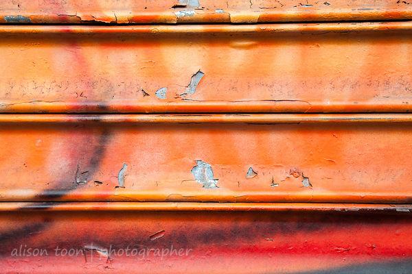 Graffiti on rolling shutter
