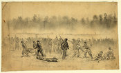 Longstreets' troops advance during Second Bull Run