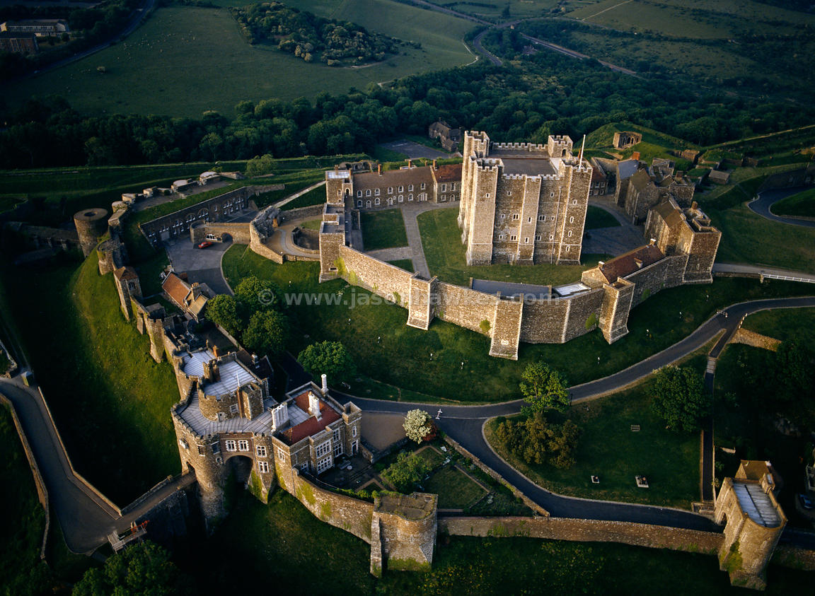 Aerial View Dover Castle Kent England Jason Hawkes