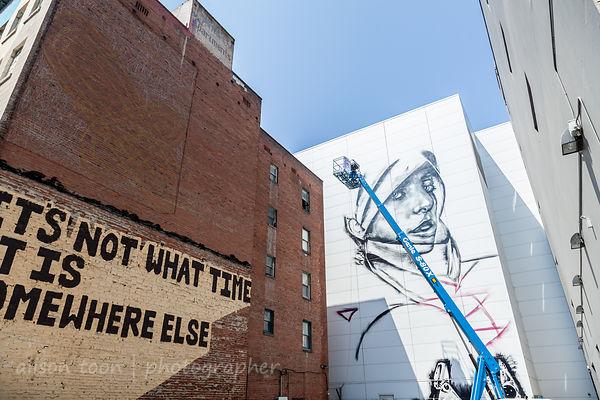 Christina Angelina, Wide Open Walls mural festival, Sacramento, 2017