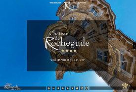 Vues virtuelles du Château de Rochegude.