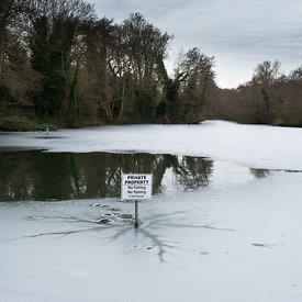 Frozen pond: no parking