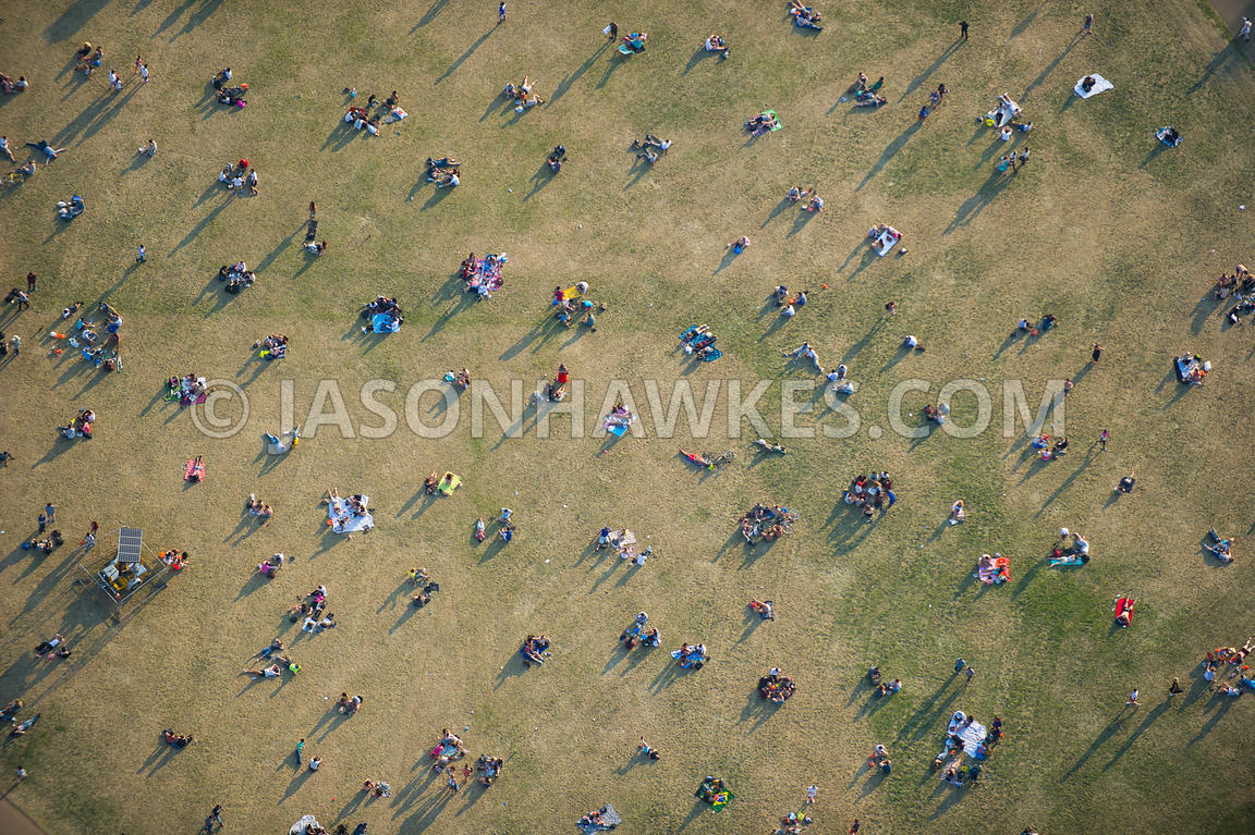 Aerial View Of People In Hyde Park