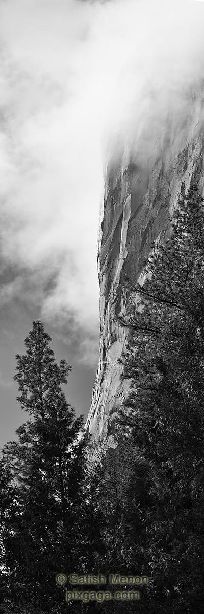 Vertical face of El Capitan, Yosemite, CA