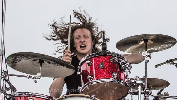Kev Hickman, drums, Raveneye