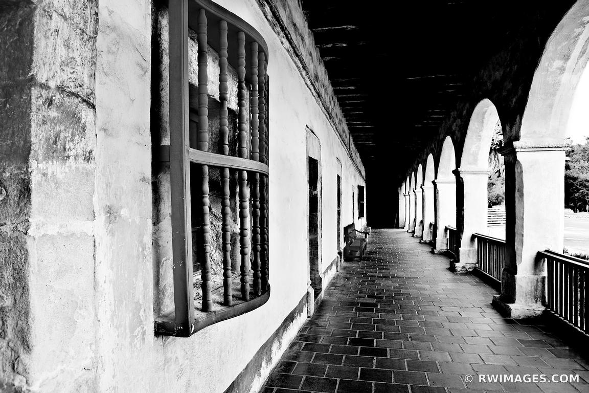 Photo print of old mission santa barbara california black for Buy fine art photography