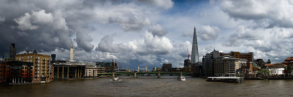 The Shard and the Thames at Southwark