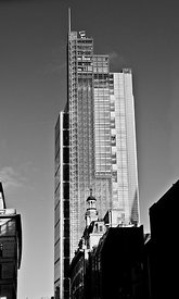 Heron Tower London black and white