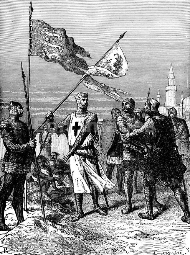 Eon Images   Richard the Lionhearted at siege of Acre ...