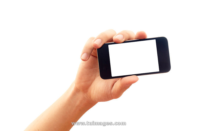 stock images isolated hand holding smartphone or phone stock photos