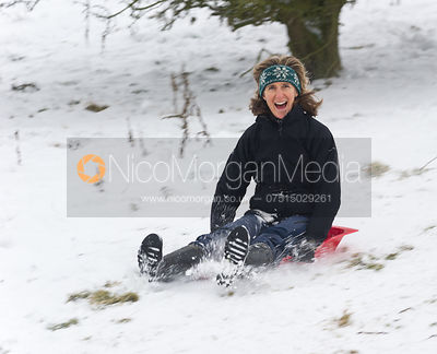 Sledging at Burrough Hills photos