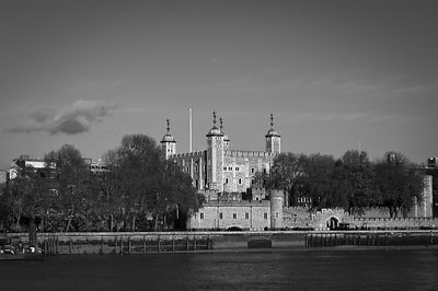 Tower of London riverside B&W