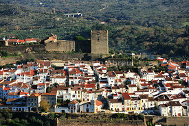 Castelo de Vide and the medieval castle. Alentejo, Portugal