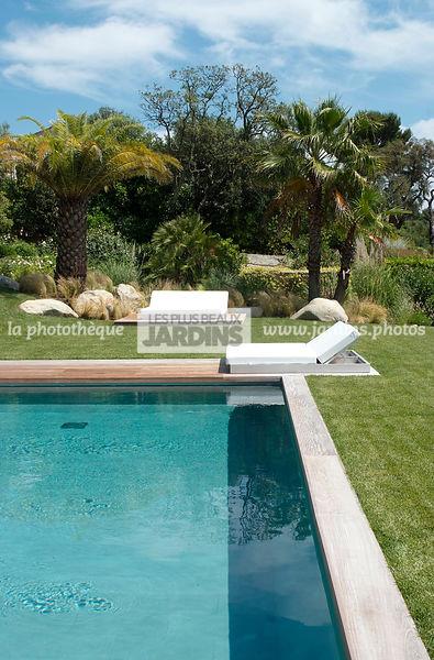 jardin provenal autour dune piscine transat de gandia blasco paysagiste fanny